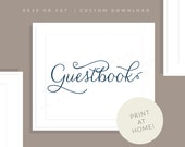 Navy Printable Guestbook Sign | Printable Guest Book Sign | Downloadable Wedding Sign | Printable Reception Sign | Jessica Collection