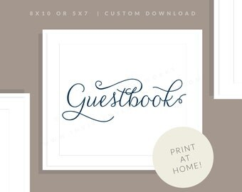 Navy Printable Guestbook Sign   Printable Guest Book Sign   Downloadable Wedding Sign   Printable Reception Sign   Jessica Collection