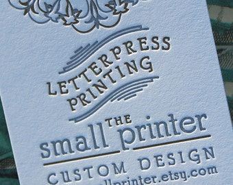 Letterpress Business Cards Sample, Letterpress Calling Cards, Letterpress Stationery, Custom Business Cards, Custom Stationery, Smallprinter