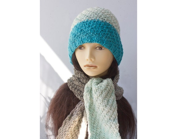 Hat and Scarf Knitting Pattern, One Skein Caron Cakes Knitting Pattern, Easy ...