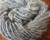 Winter Storm warning handspun merino, mohair, border leister and silk yarn, 86 yards