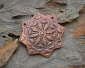 Copper 8 point textured Star, focal component One (1)