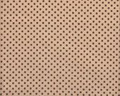 Lecien Japanese Import Color Basic Small Dot in Brown on Tan - Half Yard