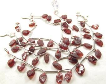 25% Off SALE Pyrope Garnet Hammered Briolette Beads, Natural Gemstone ,