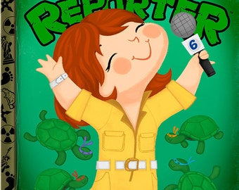 The Little News Reporter - 8x10 PRINT