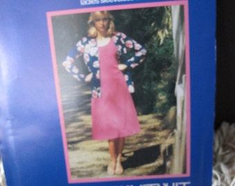 Uncut 1983 Knitwit Pattern 3700 - Ladies Dress and Jacket