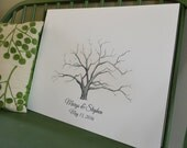 Thumbprint Tree Wedding Guestbook Alternative Live Oak Tree