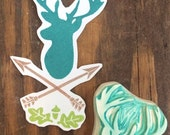 Buck Silhouette Rubber Stamp Set