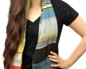 Meredith | RESERVED LISTING FOR Caryl G. | Handwoven Luxe Striped Vegan Scarf |  Vibrant Heirloom Woven Scarf | Boho Modern Accessories  H67
