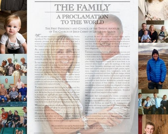Custom Made LDS Family Proclamation Collage with your photos emailed to you print at home 11x14 16x20 Gift