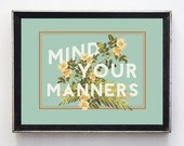 Floral Typography Print // humor print // wall art // wall decor // minimalist // home decor // funny quote print // floral decor // flowers