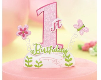 1st Birthday Cake Toppers Baby Girl or Boy Baking Supplies