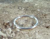 Piercing Hoop Earring Endless Sterling Silver Plain SINGLE - Seamless Hoop, Tragus Hoop, Daith Hoop, Rook Hoop, Helix Hoop, Cartilage Hoop