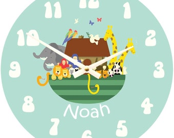 Personalised Children's Noah's Ark Clock (out of stock)