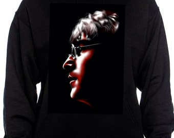 The Beatles John Lennon Imagine custom art hoodie in black