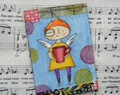 Good Morning! It's a coffee fairy ATC, ACEO