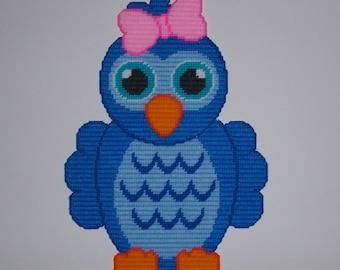 Girl Blue Bird Wall Hanging