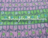 Mod Geometric Daisies and Tulips- Vintage Fabric New Old Stock 70s Pink Lime Green Turquoise (Reserved)