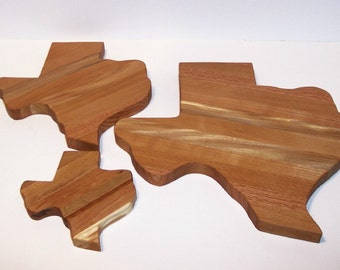 TEXAS 3 Pak  Cutting Board, Cheese Board And Mini Cutting Board Handcrafted form Mixed Hardwoods