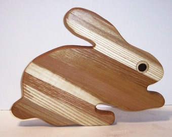 BUNNY Cutting Board Handcrafted from Mixed Hardwoods