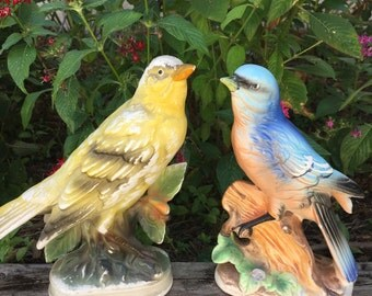 Pair of Shabby Bird Figurines