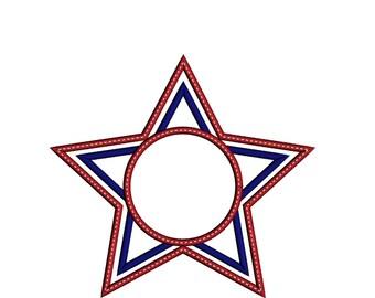 Monogram Star Applique Shirt