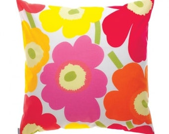 "Cushion cover, Small Unikko Red flowers. 16"" x 20"""