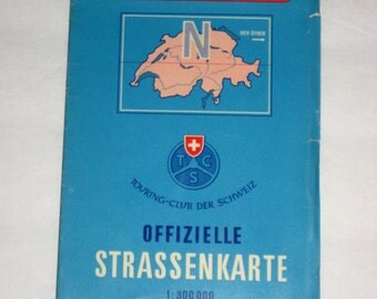 Vintage Swiss Touring Club  Map of Switzerland