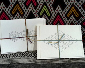 Isometric all occasion Color Your Own Notecards- 14 pack!