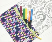 NEW - Color me wallet with washable markers - Color, wash, repeat  - Luv bug