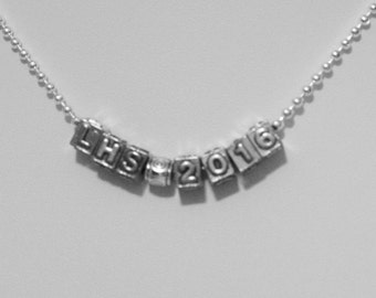 CLASS OF 2016 Necklace - Silver & Pewter