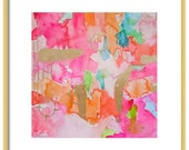 Pink Watercolor Abstract Art Print-Pink Giclee Reproduction-Wall Art-Modern Art-Pink Painting-Giclee-Abstract Painting