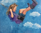Swing Painting  Girl on a swing   20x20