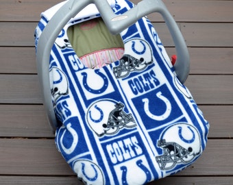 Colts Baby Car Seat Cover, Indianapolis, Baby Gift, Football, Indiana - not a registered product of the National Football League (NFL)