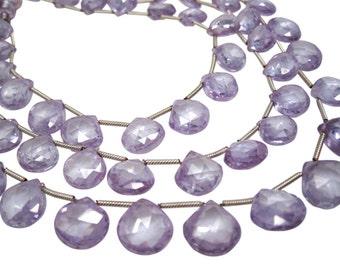 Natural Zircon Briolette Beads, Lavender Zircon, Faceted Briolettes, December Birthstone, SKU 4495A