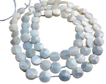 Owyhee Opal, Owyhee Blue Opal, Owyhee, Natural Owyhee Opal, Faceted Coin, Oregon Opal, 5mm, Blue Oregon Opal, Wholesale Owyhee, SKU 2458