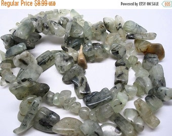 SALE Prehnite Beads, Prehnite Chips, Sage Green Gemstone, Prehnite Nuggets, Loveofjewelry, SKU 3445