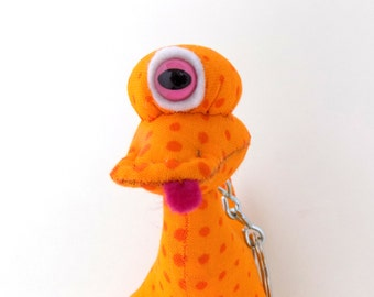 Cute Keychain, Alien Keychain, Cyclops Keychain, One eyed Keychain Monster Keychain by Adopt an Alien named Edison