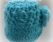 Newsboy Cap Bonnie Blue Size Newborn -3 Month Made and Ready to go!!