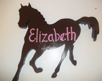Personalized Horse Cut Out