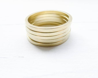 Thin Brass Ring Size 7 1.6mm Dainty Stacking or Soldering for Jewelry Making Ring Blank (RHBU407)