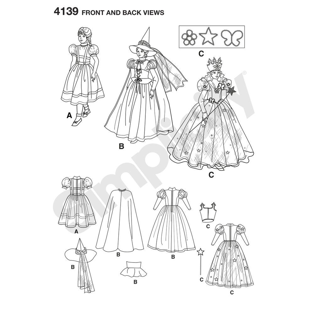 Girls' Wizard of Oz Dorothy Sewing Patterns- Dorthy, the Wicked ...