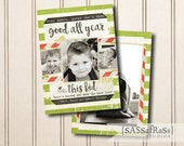 Good All Year--Christmas Card Template for Adobe Photoshop, Photographer Template, Instant Download, DIY, Commercial Use