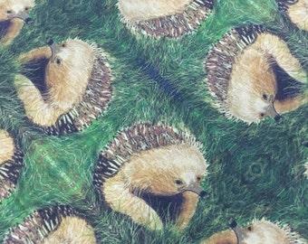 Original Tasmanian Echidna repeat pattern Fabric by Cindy Watkins  cotton