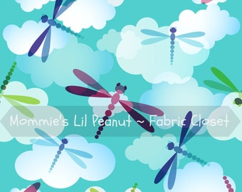 Spring Dragonfly MLP Exclusive Knit Cotton/ Lycra Jersey by the yard