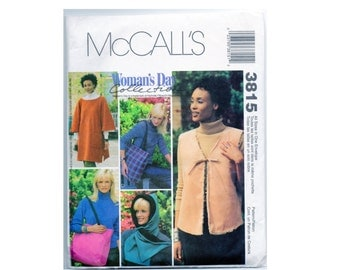 Pattern Poncho, Vest, Hood, Tote Bag McCalls 3815 All Sizes Uncut Easy Beginner Sewing