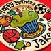 "CUSTOM Large 10"" Birthday Cake Plate Personalized cupcake sports plate"