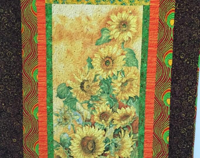 Sun in My Heart, 46x63 inch art quilt
