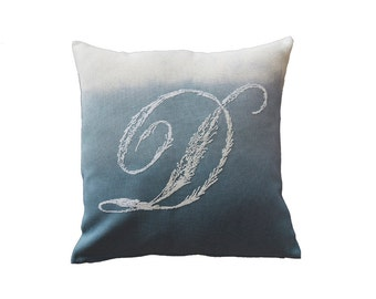 MONOGRAM D - cross stitch,french country,pillow,embroidery pattern,needlepoint,diy,linen,make it personal,cushion,Anette Eriksson Design