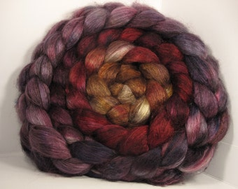 Yak Bombyx Silk 50/50 Roving Combed Top - 5oz - Tahoe 1